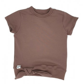 't Shirt mauve knoop