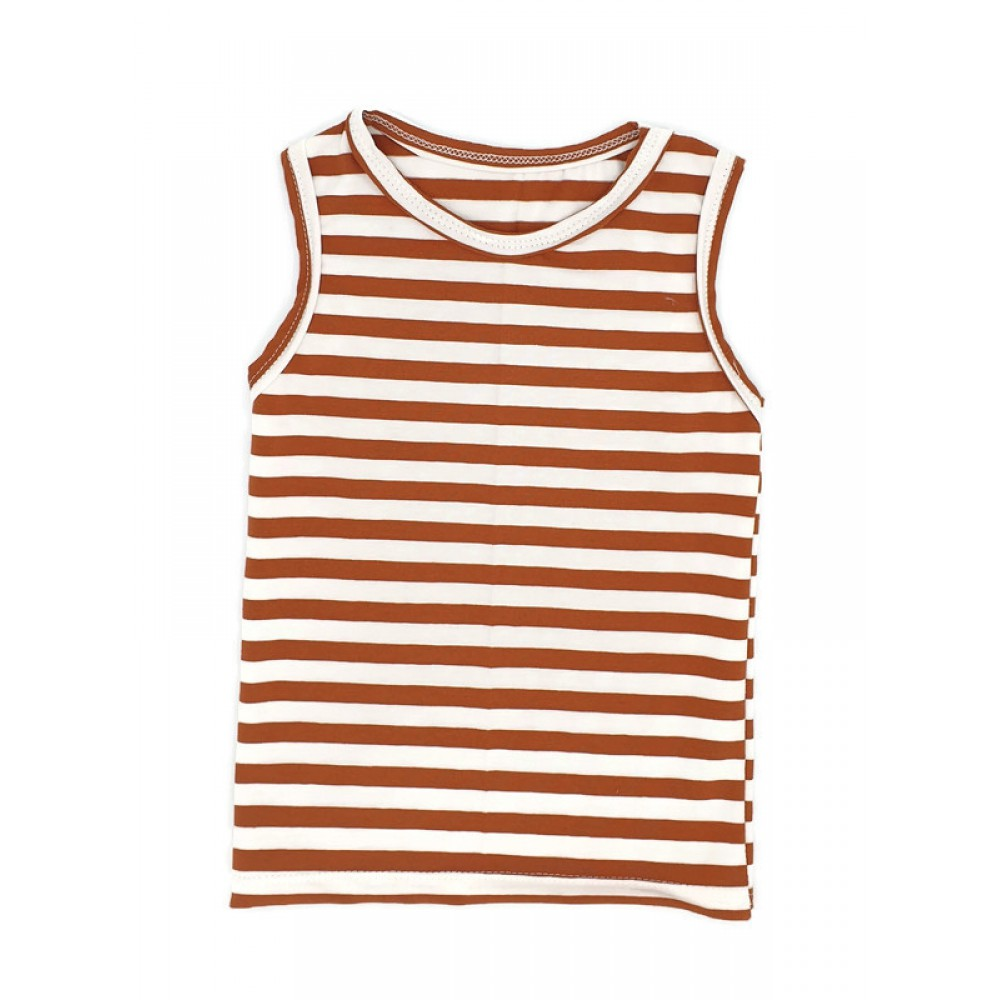tanktop streep roest wit
