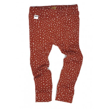 Legging dots rood wit